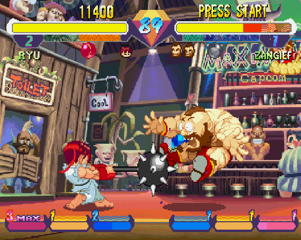 Super Gem Fighter Mini Mix Pocket Fighter Capcom CPS II Arcade Coin Op WonderSwan Sega Saturn Sony PlayStation PSX PSone PS2 Xtreme Retro 2