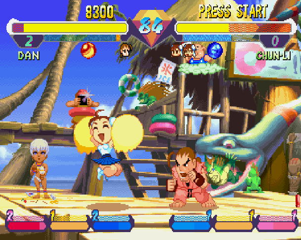 Super Gem Fighter Mini Mix Pocket Fighter Capcom CPS II Arcade Coin Op WonderSwan Sega Saturn Sony PlayStation PSX PSone PS2 Xtreme Retro 4