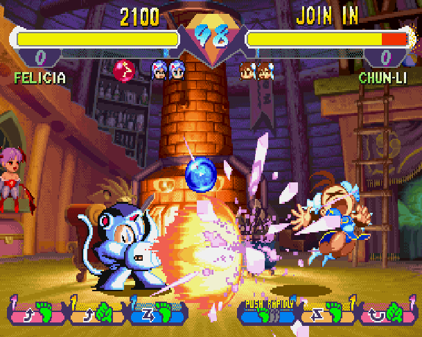 Super Gem Fighter Mini Mix Pocket Fighter Capcom CPS II Arcade Coin Op WonderSwan Sega Saturn Sony PlayStation PSX PSone PS2 Xtreme Retro 9