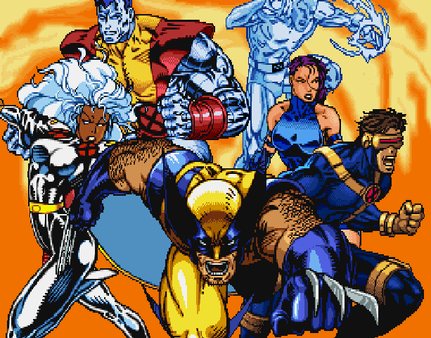 X-Men Mutant Academy 2 Activision Arcade Fighting Sony PlayStation PSX PSone Xtreme Retro Pixel Art