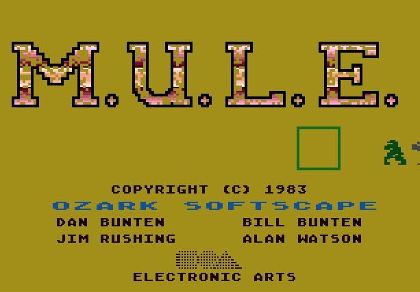 3 MULE Electronic Arts Atari 400 800 Commodore 64 IBM MSX-1 Nintendo NES PC-88 Xtreme Retro