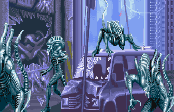 Aliens VS Predator Fox Interactive Rebellion Developments Microsoft Windows PC FPS Xtreme Retro Pixel Art