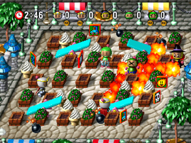 Bomberman World Bonbāman Wārudo Hudson Soft Atlus Sony PlayStation PSX PSone Xtreme Retro 5