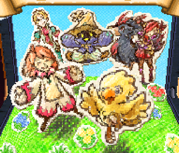Chocobo Tales Final Fantasy Square Enix Nintendo DS NDS Pixel Art Xtreme Retro