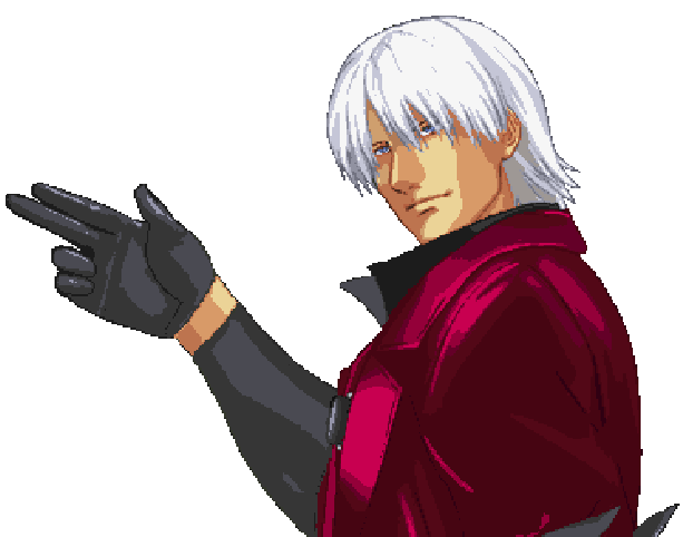 Devil May Cry DMC Capcom Mobile Cell Phone Xtreme Retro Pixel Art Dante Sparda