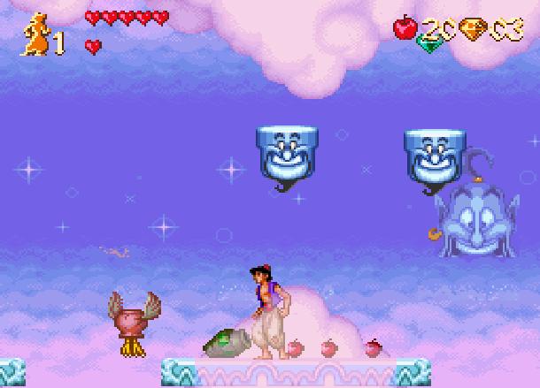 Disney's Aladdin Capcom Super Nintendo SNES Apples Xtreme Retro