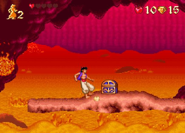 Disney's Aladdin Capcom Super Nintendo SNES Chest Xtreme Retro