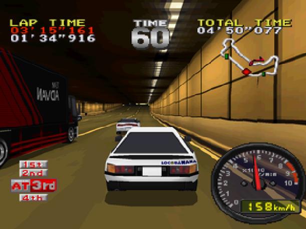 Drift King Tokyo Highway Battle Genki BPS Sony PlayStation PSX PSone Sega Saturn Xtreme Retro 1