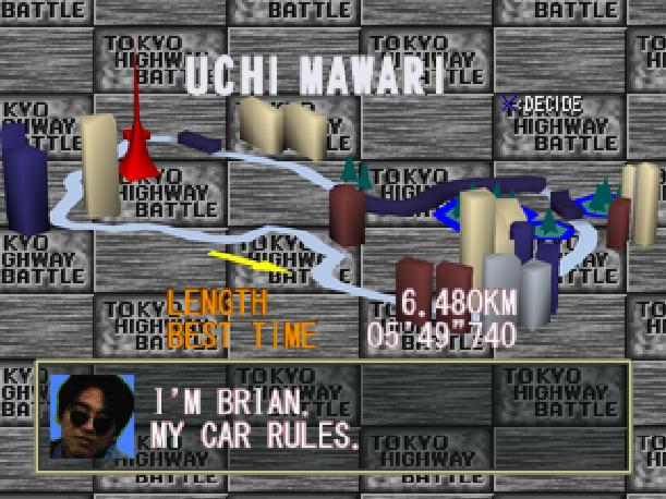 Drift King Tokyo Highway Battle Genki BPS Sony PlayStation PSX PSone Sega Saturn Xtreme Retro 10