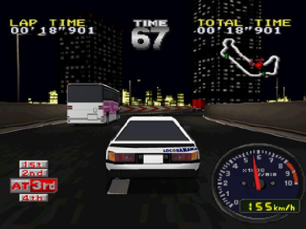 Drift King Tokyo Highway Battle Genki BPS Sony PlayStation PSX PSone Sega Saturn Xtreme Retro 3