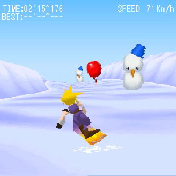 Final Fantasy VII Snowboarding Squaresoft Mobile Game Xtreme Retro