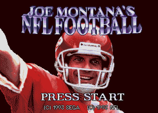 Joe Montana's NFL Football Sega Mega CD Sega of America Malibu Interactive 1993 Xtreme Retro 1