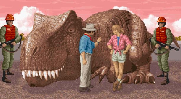 Jurassic Park Sega Mega CD Adventure Xtreme Retro Pixel Art