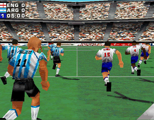 Mundiales 98 Alexi Lalas International Soccer Windows PC Sony PlayStation PSX PSone Sports Xtreme Retro 1