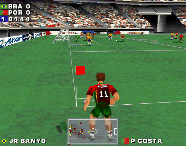 Mundiales 98 Alexi Lalas International Soccer Windows PC Sony PlayStation PSX PSone Sports Xtreme Retro 10