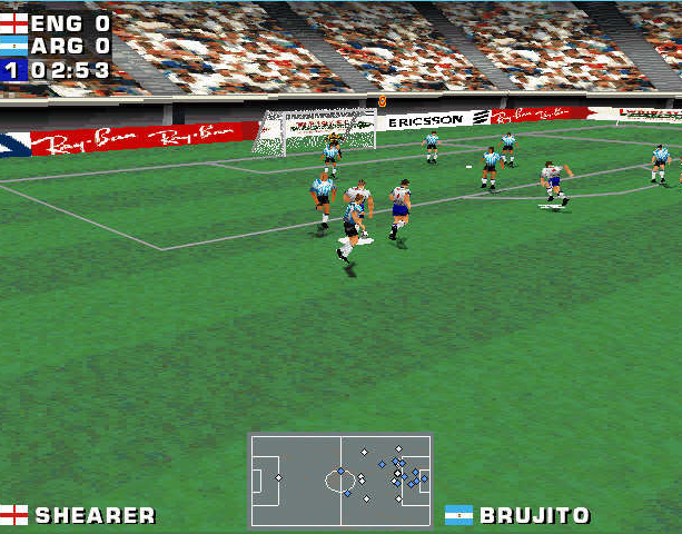 Mundiales 98 Alexi Lalas International Soccer Windows PC Sony PlayStation PSX PSone Sports Xtreme Retro 4