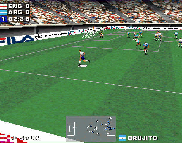 Mundiales 98 Alexi Lalas International Soccer Windows PC Sony PlayStation PSX PSone Sports Xtreme Retro 5