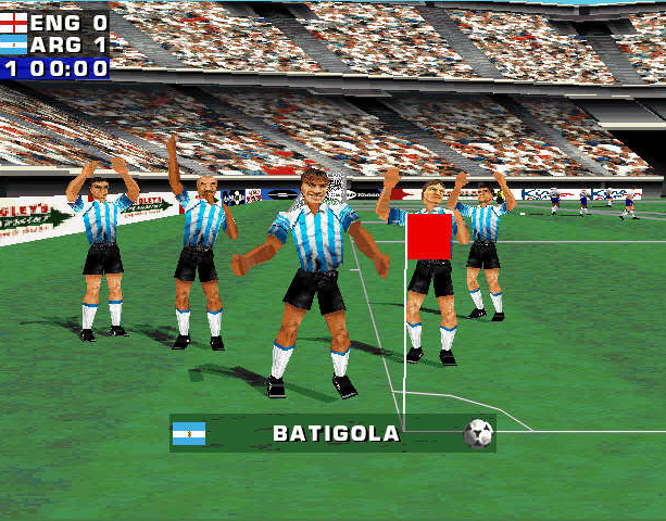 Mundiales 98 Alexi Lalas International Soccer Windows PC Sony PlayStation PSX PSone Sports Xtreme Retro 7