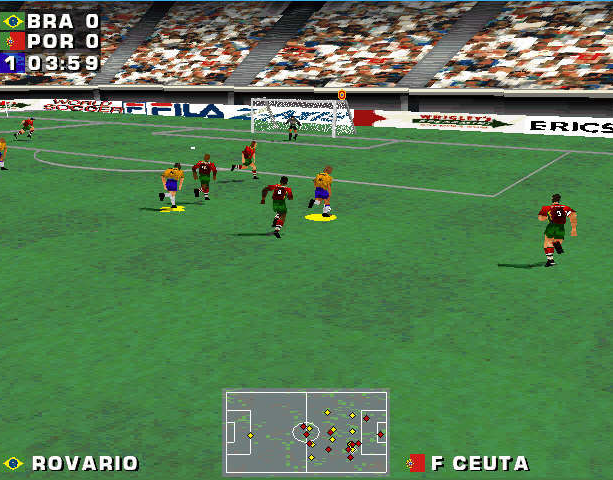 Mundiales 98 Alexi Lalas International Soccer Windows PC Sony PlayStation PSX PSone Sports Xtreme Retro 9