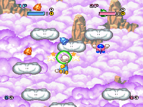 Pop'n TwinBee Konami Palcom 1993 Shoot'em up Super Nintendo SNES Xtreme Retro 2