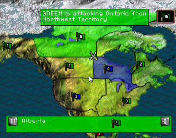 Risk the Game of Global Domination Hasbro Interactive BlueSy Software Sony PlayStation PSX PSone PC Windows Strategy Tactics Xtreme Retro 11