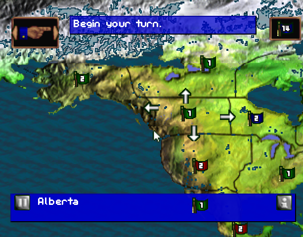 Risk the Game of Global Domination Hasbro Interactive BlueSy Software Sony PlayStation PSX PSone PC Windows Strategy Tactics Xtreme Retro 2
