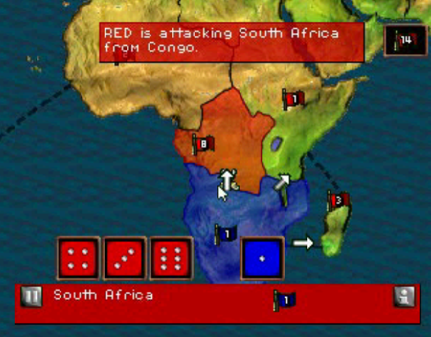 Risk the Game of Global Domination Hasbro Interactive BlueSy Software Sony PlayStation PSX PSone PC Windows Strategy Tactics Xtreme Retro 3
