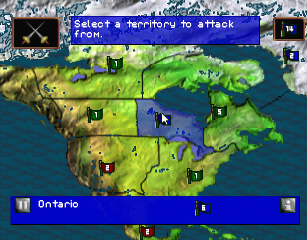 Risk the Game of Global Domination Hasbro Interactive BlueSy Software Sony PlayStation PSX PSone PC Windows Strategy Tactics Xtreme Retro 5