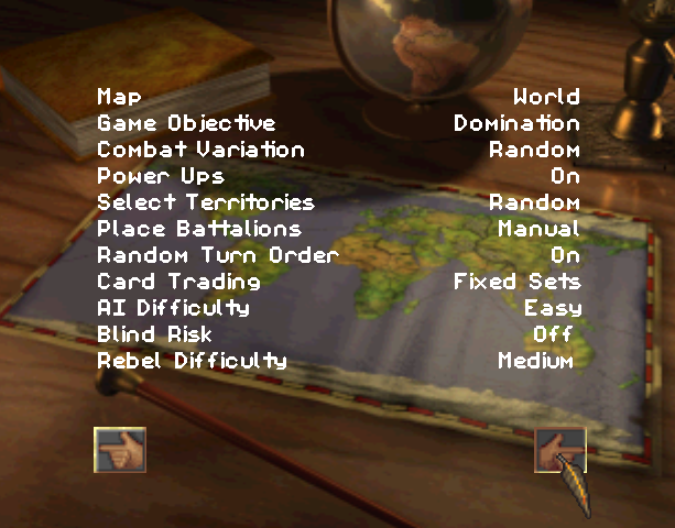 Risk the Game of Global Domination Hasbro Interactive BlueSy Software Sony PlayStation PSX PSone PC Windows Strategy Tactics Xtreme Retro 7