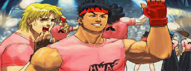 Street Fighter Movie Funny Pixel Art Ryu Ken Capcom Xtreme Retro