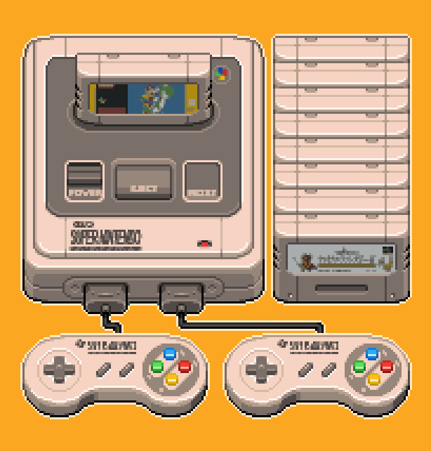 Super Nintendo SNES Super Famicom Xtreme Retro Pixel Art 1