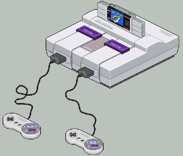 Super Nintendo SNES Super Famicom Xtreme Retro Pixel Art 2