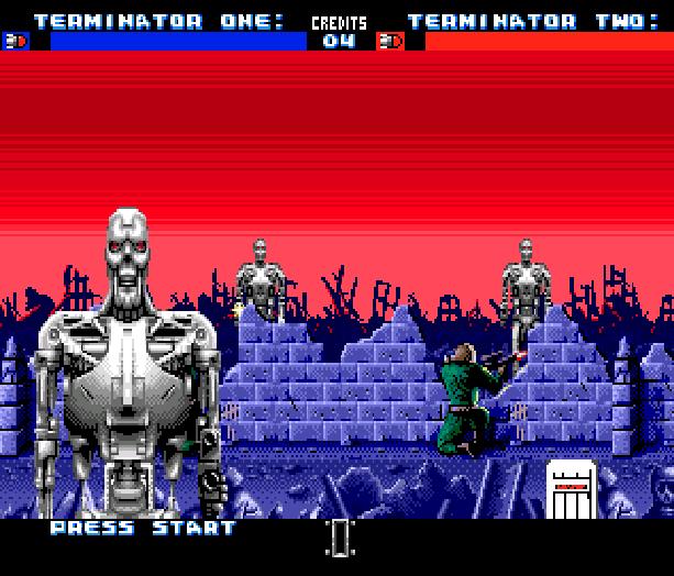 Terminator 2 T2 Judgement Day The Arcade Game Midway Probe Acclaim Sega Genesis Mega Drive Menacer Xtreme Retro