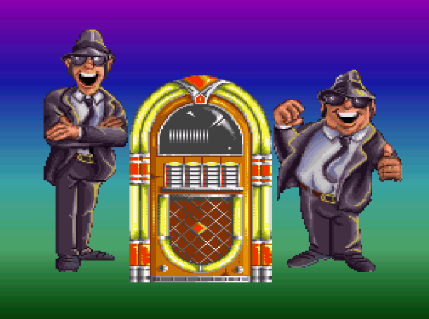 The Blues Brothers Titus Software IBM PC Amstrad CPC Amiga Commodore 64 C64 Atari ST NES Super Nintendo SNES Game Boy GB Xtreme Retro 1