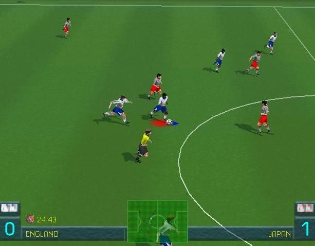 World League Soccer 98 WLS98 Eidos Silicon Dreams Sports Football Sony PlayStation PSX PSone Sega Saturn Windows PC Xtreme Retro 7