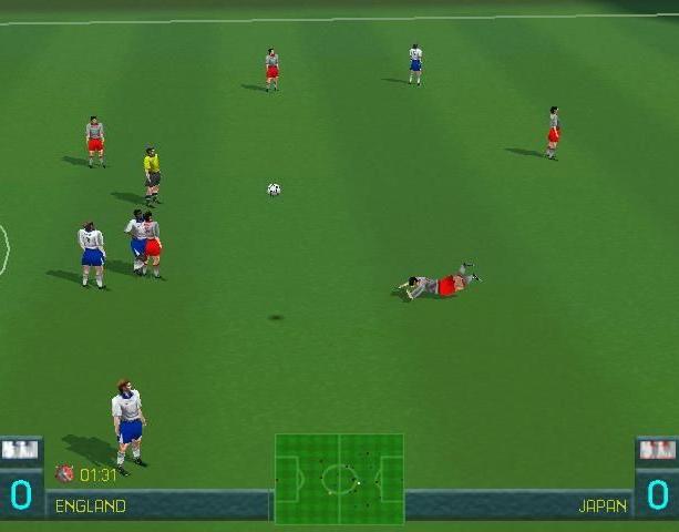 World League Soccer 98 WLS98 Eidos Silicon Dreams Sports Football Sony PlayStation PSX PSone Sega Saturn Windows PC Xtreme Retro 9