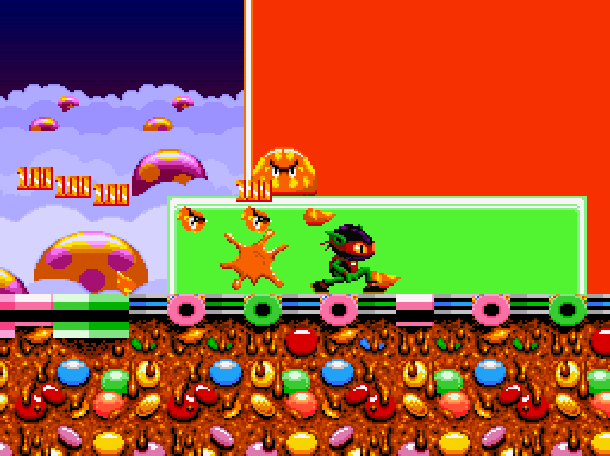 Zool Ninja of the Nth Dimension Gremlin Graphics Commodore Amiga CD 32 Atari ST DOS Sega Game Gear GG Master System NS Mega Drive MD Genesis Super Nintendo SNES Xtreme Retro 3