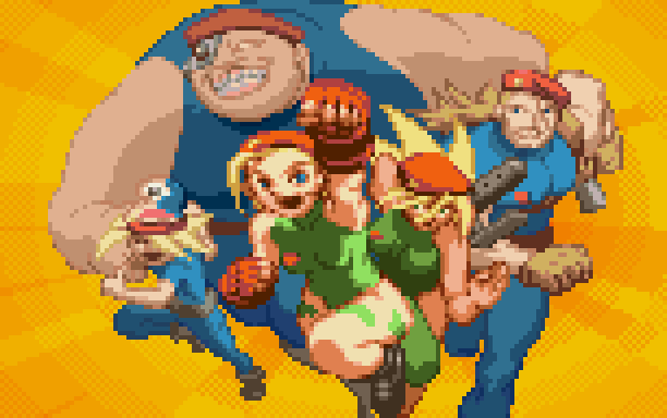 Cammy White Capcom Street Fighter Pixel Art Xtreme Retro