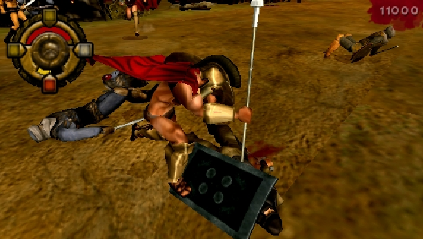 300-march-to-glory-eidos-interactive-collision-studios-sony-playstation-portable-psp-hack-and-slash-xtreme-retro-3