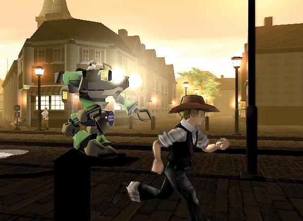 steambot-chronicles-ponkotsu-roman-daikatsugeki-bumpy-trot-action-rpg-irem-atlus-sony-playstation-2-ps2-xtreme-retro-2