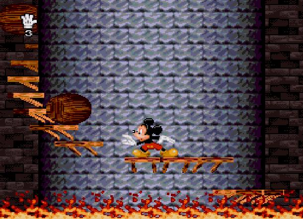 Mickey Mania Traveller's Tales Sony 1994 Super Nintendo SNES